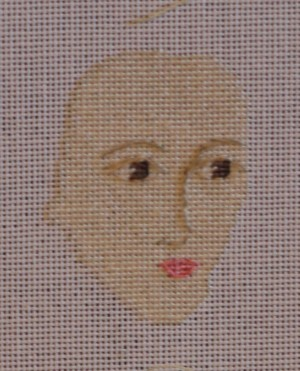 Stitched face of Elizabeth I